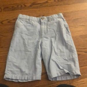 Oxford blue boys preppy shorts
